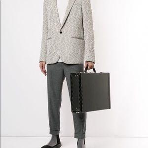 LOUIS VUITTON president trunk briefcase leather